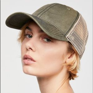FREE PEOPLE SUNBLEACHED BALL CAP